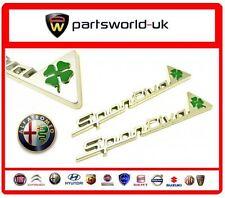 Pair Of Genuine Alfa Romeo Cloverleaf Sportiva Wing Badges - Alfa Romeo MiTo