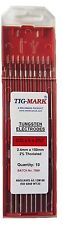 Pk 10 1.6mm x 150mm 2% THORIATED RED TIPPED TUNGSTEN ELECTRODES