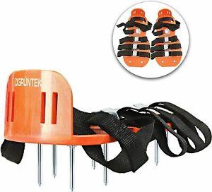 GRUNTEK Lawn Aerator Shoes Garden Grass Aerator Spiked Sandals 4 Secure