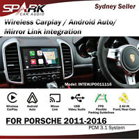 WIRELESS CARPLAY ANDROID AUTO MIRROR LINK INTEGRATED FOR PORSCHE PCM 3.1 2011-16