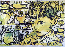 "Beautiful DAVID BROMLEY Limited Edition Screenprint ""Wallpaper Boy 2"""