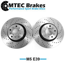 BMW M5 E39 99-03 Drilled Only Performance Front Brake Discs 345mm