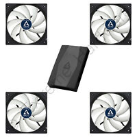 4 x Arctic F12 PWM 120mm PC Case Fans Rev.4 12V 4-Pin + Arctic 10 Port Fan Hub