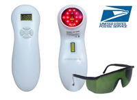 Cold Laser Therapy Pain Relief Device Pet Friendly W/Glasses ships from USA