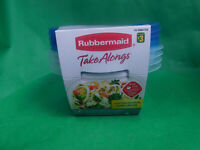 Rubbermaid Take Alongs 4 Deep Square Containers 5.2 Cups N1-25