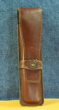 Brown  Pouch / Genuine Leather case for one or two  pen