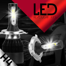 H4 LED Hi/LO BEAM Headlight Bulbs 488W 48800LM 2X 6000K CREE White