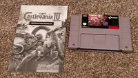 Super Castlevania IV 4 Super Nintendo SNES Konami Video Game Cartridge & Manual!