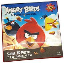 "New Angry Birds Super 3D Puzzle Rovio Entertainment LTD 150 Pieces 12"" X 18"" New"