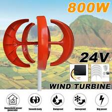 800w 5 Blade Max Power Wind Turbines Generator Horizontal 24v Charge Controller