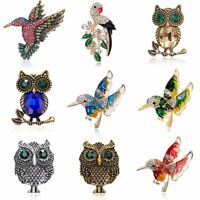Fashion Crystal Animal Owl Bird Brooch Pin Women Jewelry Party Costume Gift New