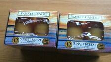 2 x Yankee Candle SUNSET Breeze T-Luci nella casella Nuovo di Zecca