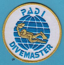 "PADI DIVEMASTER SCUBA DIVE PATCH 4"" ROUND."