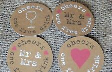 Just My Type DRINKS TOKENS - WEDDING FAVOURS