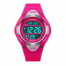 SKMEI Girls Pink Digital Watch 50m Water Resistant Stopwatch Alarm for Ages 5-13