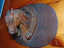 Antique German Hand Carved Black Forest horse Danish design Bauhaus mid century
