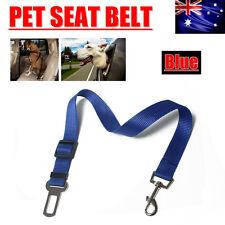 Adjustable Pet Dog Car Safety Seat Belt Buckle Harness Restraint Lead Blue AU