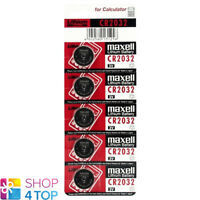 5 MAXELL CR2032 LITHIUM BATTERIES 3V COIN CELL BUTTON DL2032 EXP 2023 NEW