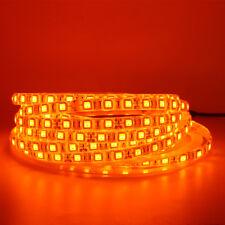 12V reel Orange 5m 5050 3528 300 LED Strip Light Lamp Flex Rope Tape Waterproof