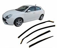 UKB4C Tinted Acrylic Front /& Rear Wind Deflectors 4pc Set Navara 05-16