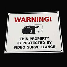 WARNING SECURITY CAM SPY CCTV VIDEO CAMERAS IN USE SIGN