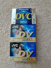 JVC and Panasonic DVC 90 Mini DV tapes - Brand new