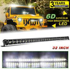 6D Single Row Silm 32INCH 300W LED Light Bar Off Road SUV ATV Marine Pickup 30''