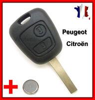 Coque Clef Plip Bouton Clé 2 boutons Peugeot Clé 107 207 307 Citroën C1 C2 C3