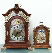 CLOCK Mantel WARMINK LUXURIOUS TOP!!! TRIPLE Chime Moonphase HIGH GLOSS Vintage