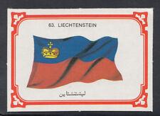 Monty Gum 1980 Flags Cards - Card No 63 - Liechtenstein (T658)