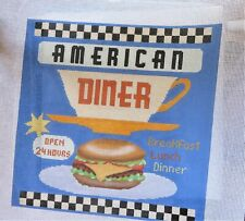 Handpainted Needlepoint Canvas American Diner