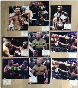 MIKE TYSON Autograph Signed Photo 16x20 S&L COA & Signing Session Photo Proof