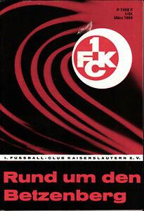 1. FC Kaiserslautern  - Rund um den Betzenberg - März 1984 - Heft 1/84