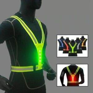High Visibility Outdoor Running Cycling Reflective Safety LED Cycling Vest