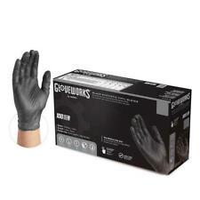 1000/cs GLOVEWORKS 3 Mil Vinyl Industrial Latex Free Disposable Gloves - Black