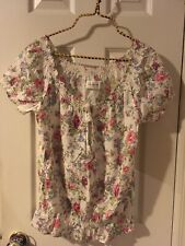 NWOT Abercrombie And Fitch Floral Blouse L