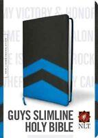 Holy Bible : New Living Translation, Black and Blue, Slimline, Reference, Pap...