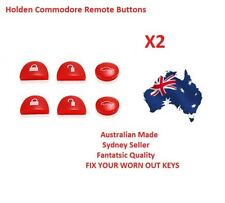 RED 2X Sets Key Remote Buttons Holden Commodore Key VS VT VX VY VZ WH WK WL