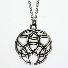 New Pewter Web of Wyrd Viking Amulet Pendant Necklace Developing Potential V9