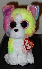 "Ty Beanie Boos - Isla the 6"" Claires Exclusive Rainbow Bulldog ~ New ~ In Stock"