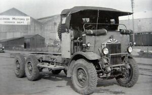 Copy of photograph of vintage transport - Albion truck outside the service dept.