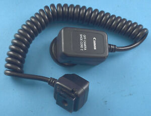 Canon Off-Camera Shoe Cord 2 Near Mint Cheap NR