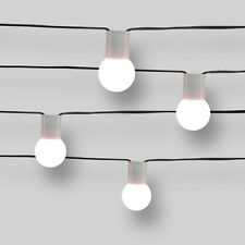PROJECT62 Frosted G40 Modern String Lights Weather Resistant Indoor Outdoor 10CT