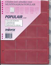 Importa muntbladen populair 20 vaks rode schutbladen voor o.a. pressed pennies