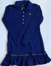 New Girls Ralph Lauren Long-sleeved Polo Dress S7Years