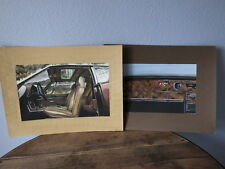 2x Early Work PAINT of a Car Designer 80's automobile Etude Interior & Leather