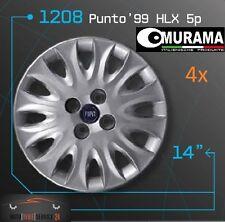 4 Original MURAMA 1208 Radkappen für 14 Zoll Felgen FIAT PUNTO '99 HLX BLAU LOGO
