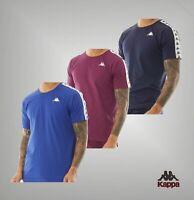 Mens Kappa Cotton Slim Fit Raglan Short Sleeve Top Jersey T-Shirt Sizes S-XXL