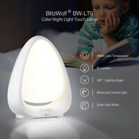 BlitzWolf BW-LT9 8-Color Touch Control Rechargeable LED Night Light DESK  ^^