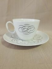 Raymond Loewy Continental China 'Script' Cup & Saucer, Made In Germany